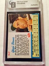 1962 Post Cereal Yogo Berra Authenticated