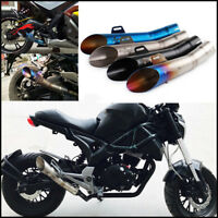 Motorcycle Exhaust Muffler Tip DB Killer Escape Tube End Tail Vent Pipe Silencer
