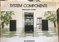 Pioneer Owner Manual SYSTEM COMPONENTS PREMATCHED SYSTEM Original Not a Reprint