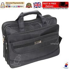 Mens Black Laptop Messenger Briefcase Business Office Work Satchel Cabin Bag