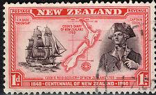 New Zealand Islands Map Cook stamp 1940
