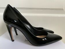 New Christian Dior D Choc Black Patent Curved Heel Pointed Toe Pumps 40 10 $790