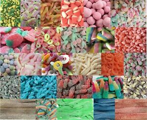 Fizzy Sour Sweets  45 flavours Halal Party Wedding Soft Chewy Gummy Vegetarian