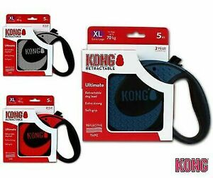 KONG Retractable Ultimate Lead Flexible Dog Puppy Extending Leash Strong Tape 5M