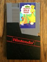 Sesame Street: Big Bird Hide & Speak (Nintendo NES, 1990) Game & Sleeve Tested
