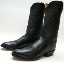 LUCCHESE 1535 HANDMADE CLASSICS SOFT BLK LEATHER COWBOY WESTERN BOOTS 10.5~1/2 E