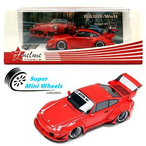 """FuelMe 1/64 RAUH-Welt BEGRIFF RWB Porsche 911 (993)  """"Fishbone"""" Red"""
