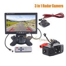 "7 ""Monitor del coche de visión trasera + Radar de coche cámara de marcha atrás"