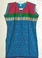 KUR103 Blue & Pink Indian Pakistani Bollywood Designer Kurti Tunic Kurta