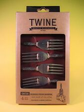 Rustic Elegance Cheese Markers Metal Chateau Twine Reusable Set of 4 MINT NIB