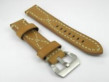 Genuine Thick Leather Strap Band Buckle Officine Panerai Watch 20 22 24 26mm