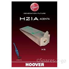 5 X HOOVER ORIGINALE h21a Sacchetti per Aspirapolvere Serie Acenta
