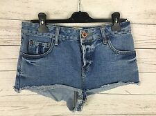 Womens River Island Denim Hot pants/Shorts - UK10 - Navy Wash - Great Condition