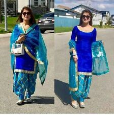 Punjabi Patiala Bollywood Designer Indian Embroidery SALWAR KAMEEZ silk suits