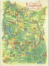 Alte topografische Postkarte Vogtland III 1978