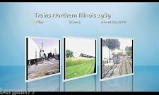 Trains DVD Best of 1989 CNW-BN-ATSF-SOO-EMD Open House+ more. 54 min total!