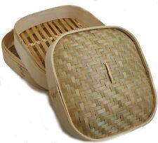 JADE 17126 Bambus Reiskocher Dampfgarer 25 cm Steamer Slow Cooker Dampder Dimsum