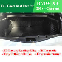 Custom Made Car Boot Cargo Mats Wheel Arches Cover Liner for BMW X3 2018 - 2020