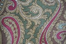 Ralph Lauren Fabric Medallion Paisley Design Olive Green Brown SOLD BY THE YARD