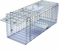 Faicuk Large Collapsible Humane Live Animal Cage Trap for Raccoon, Opossum, and