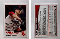 Daniel Bard Signed 2013 Topps Update #US149 Card Boston Red Sox Auto Autograph