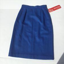 Block Island Petite By Marina Pappas 100% Wool Pencil Skirt Blue Size 6 NWT