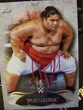 2015 Topps WWE Undisputed #75 Yokozuna NrMint-Mint