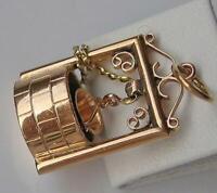 Anhänger Brunnen Fountain in aus 18 Kt. 750 Gold pendant Eimer