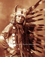 Sioux Indian Chief Little Horse Vintage Photo Native American Old West #21430