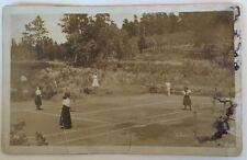 * Estabrook CO Silver Spruce Ranch Tennis Court Ladies DPO 1880-1937 1909 RPPC