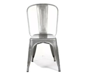Xavier Pauchard ~2 X Authentic Tolix A Chairs ~Perferated Stainless Steel