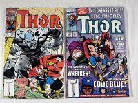 2 Thor Comic Books #376 Feb 1987 #426 Nov 1990