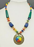 Vintage Ethnic/Tribal/American Southwest/Middle Eastern/Lucite Necklace