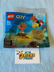 Lego City 30370 Diver Polybag New/Sealed/Hard to Find