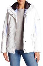 Gerry Anne Systems 3 IN 1 Waterproof Detachable Hood Ski Jacket White Sz L $240