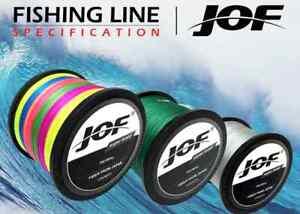 JOF100M Multicolour PE Braided Wire 4 Strands Multifilament Japanese