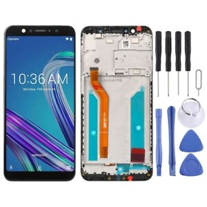 For  Asus ZenFone Max Pro M1 LCD Screen Touch Digitizer Glass With Frame BLACK