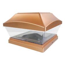 4 Copper 6x6 Solar Post Light SMD LED Deck Cap Square Fence Light Landscape Lamp