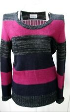 Crumpet Stripe Cashmere Blend Jumper Size Small Relaxed Fit Pippa Middleton Knit