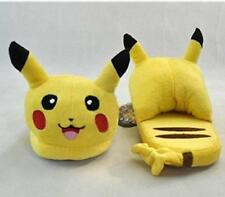 "Pokemon Pikachu Anime Cartoon Plush Indoor Bedroom Winter Slipper 11"""