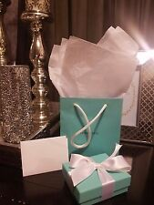 Tiffany & Co Empty Gift Box, Gift Bag, Pouch, Ribbon, Blank Card & T&CO Tissue