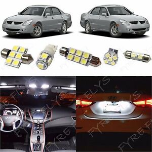 10x White LED lights interior package kit for 1998-2004 Mitsubishi Diamante MD1W