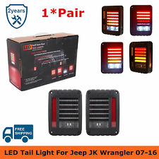 Pair LED Tail Light Rear Brake Reverse Lamps US Model For 07-16 Jeep Wrangler JK