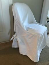 Pottery Barn Folding Chair Slipcover Canvas Off White