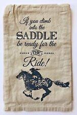Horse Flour Sack Kitchen Towel | Cotton | Beige | Free US Shipping!