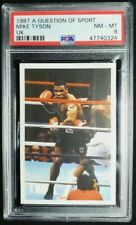 1987 A Question Of Sport UK Mike Tyson Rookie Card RC PSA 8 NM-MT Boxing HOF
