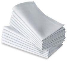 """100% Cotton Napkins13 Pack Oversized Dinner Napkins 16""""X16"""" White WEDDINGSUPPLY"""