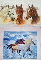 "New completed finished cross stitch""Horses""Home Decor Gifts"