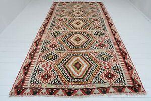 """Vintage Turkish Wool Rug Antalya Nomads Kilim 70,4""""X135,8"""" Area Rug Floor Carpet"""