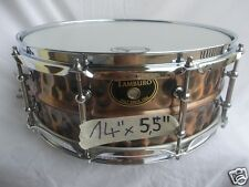 "TAMBURO Steel Series 14""x5,5"" rullante in acciaio martellato e finitura bronzo"